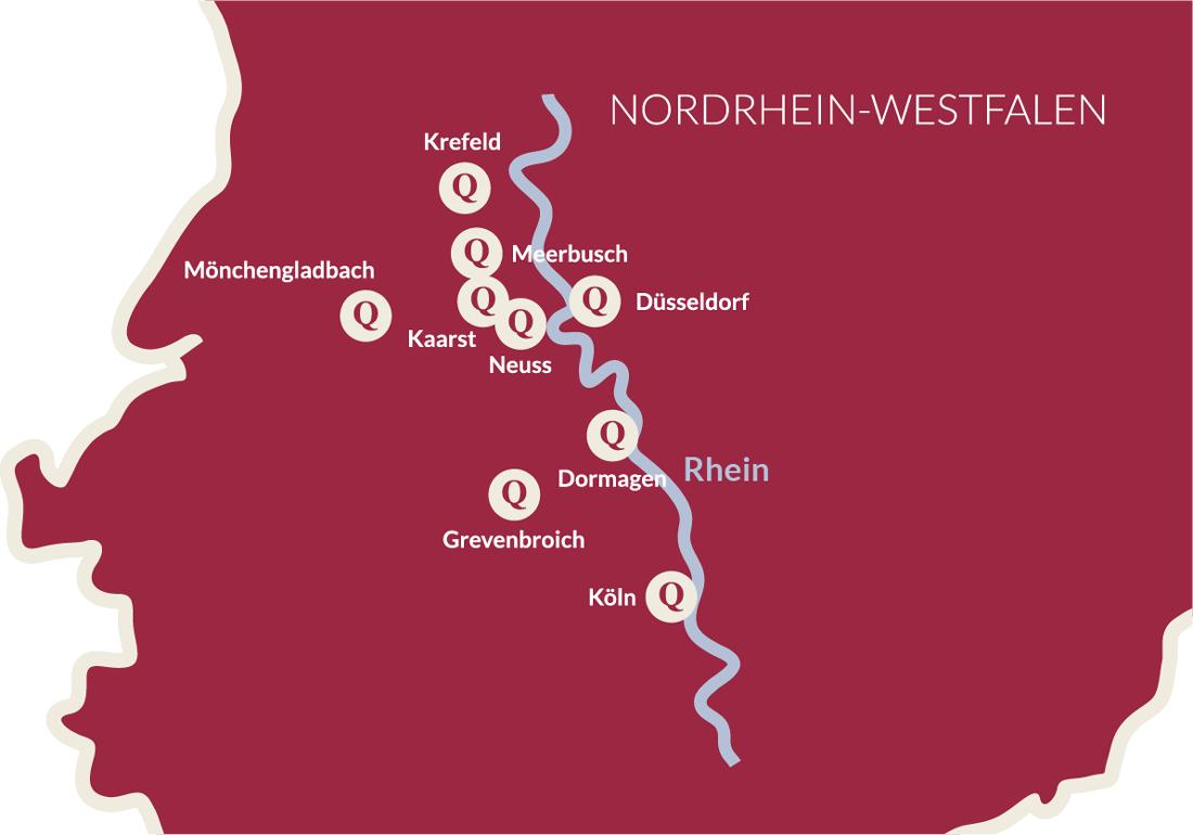 NRW Karte Zuschnitt